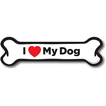 I Love My Dogs Dog Bone Magnet 2x7 inch Decal Great for Car Truck or Fridge