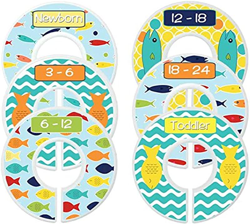 Mumsy Goose Baby Nursery Closet Dividers Closet Organizers Baby Boy Fishing
