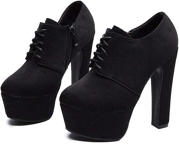 HBDLH Chaussures pour Femmes Déteste Le Ciel Chaussures avec des 14Cm Sexy Le Frenulum Rude Talon Night-Club Imperméable Tableau Super Talon Haut Bref des Bottes.