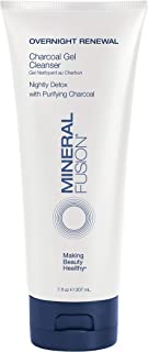 Mineral Fusion Overnight Renewal Charcoal Gel Cleanser, 7 Ounce (Packaging may vary)