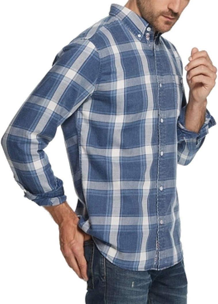 Weatherproof Mens Plaid Fannel Button Up Shirt