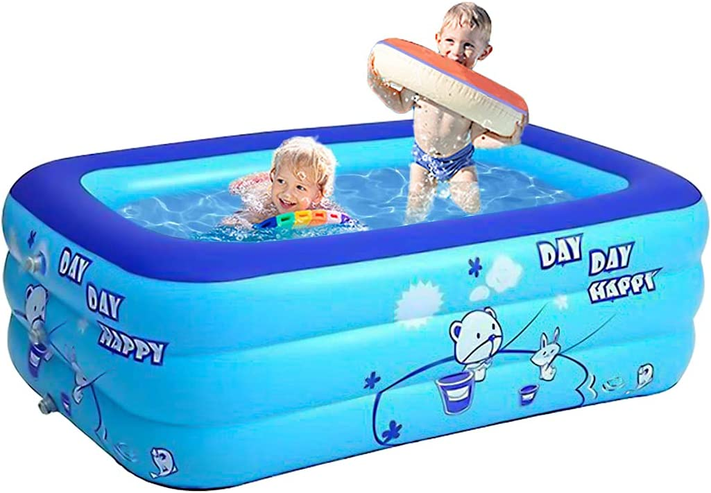 Derekey Inflatable Pool, 2021 Upgraded Family Pool, Swimming Pools for Family, Toddlers, Garden, Outdoor, Backyard, Indoor
