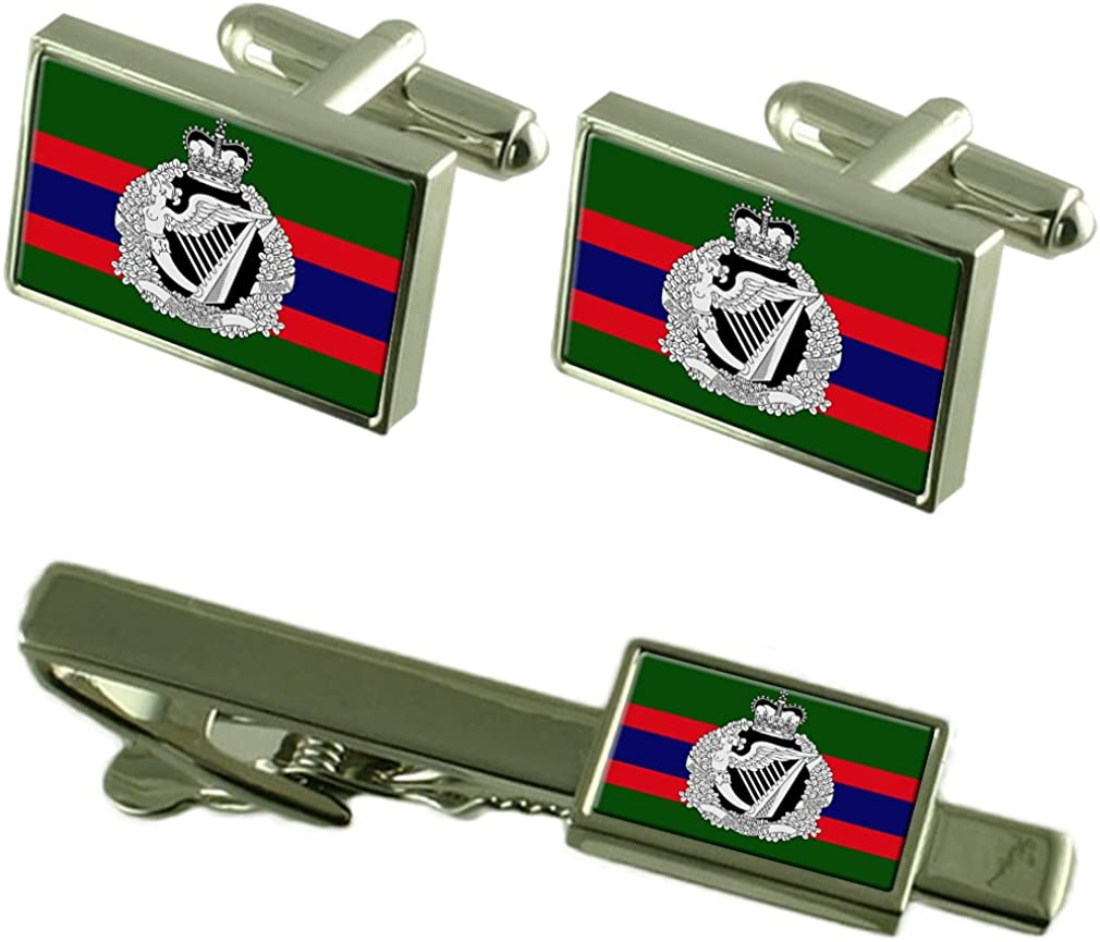 Select Oakland Mall Gifts Irish New life Regiment Military Flag Tie England Cufflinks