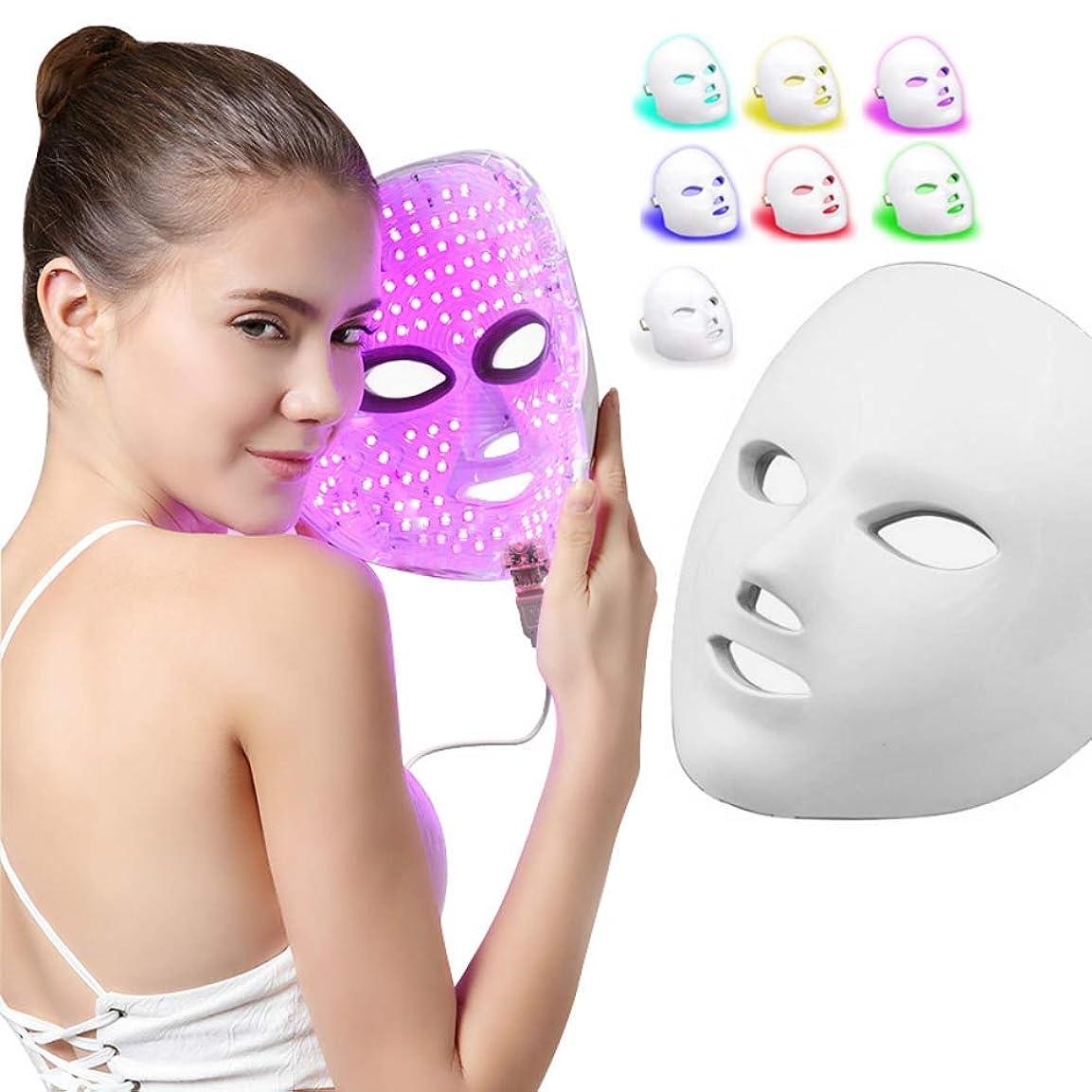 お風呂引退するネコライトセラピーマスク、7色フォトンフェイスマスクマシンマスクビューティープロアクティブスキンケアアンチエイジングファーミングスキン改善ファインライン