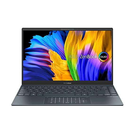ASUS Zenbook13{2021} (R5-5500U/8GB RAM/512 GB NVMe SSD/Win10+McAfee/Ms Office H&S 2019/13.3 inch FHD IPS OLED/Integrated Radeon Graphic/FP Reader/1.4 kg/Grey/1 Yr.)UM325UA-KG501TS