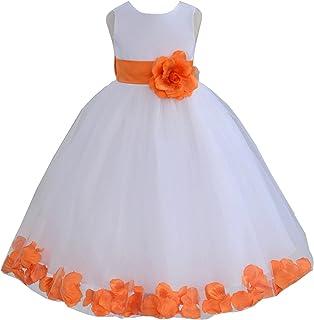 e6d1b668936 ekidsbridal White Floral Rose Petals Flower Girl Dress Birthday Girl Dress  Junior Flower Girl Dresses 302s