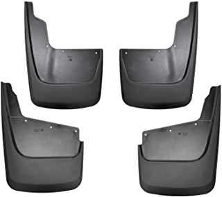 Husky Liners Fits 2020 Chevrolet Silverado 2500HD/3500HD (Not Dually), Front and Rear Mud Guards, Black, Model Number: 58286