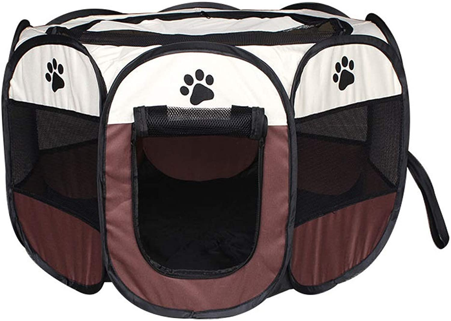 LZRZBH Pet Playpen Portable Foldable Pet Puppy Dog Cat Rabbit Play Pen Cage Waterproof Kennel Tent Fence for Indoor Outdoor (color   C, Size   M)