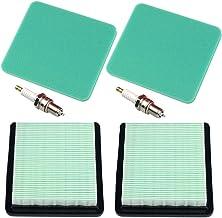 Panari (Pack of 2 Air Filter Spark Plug for Honda GC135 GCV135 GC160 GCV160 Gc190 Gcv190 GX100