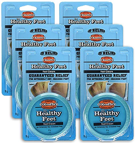 (Pack of 6) O'Keeffe's Healthy Feet Cream for Extremely Dry, Cracked Feet