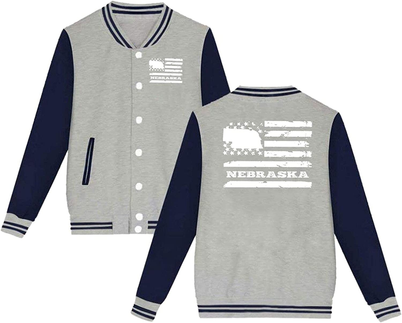 N A Nebraska Houston Mall State Price reduction USA Flag Jacket Uniform Baseball Unisex Hoo
