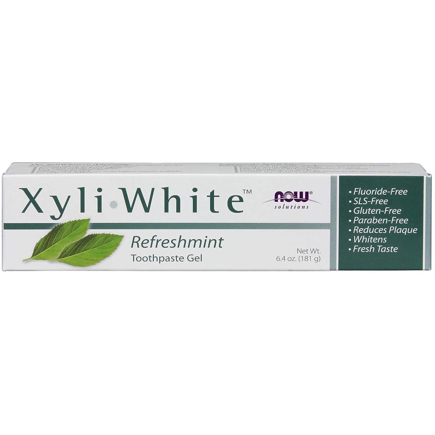 心配全国新しさ[海外直送品] ナウフーズ キシリホワイト リフレッシュミント歯磨きジェル 181g