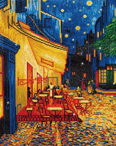 DIAMOND DOTZ - Cafe at Night (Van Gogh) - DD10.005All Inclusive Diamond Art Kit, Printed, Facets Sorted by Shade, Stylus, Craft Tray, Wax Caddy, and Instructions.