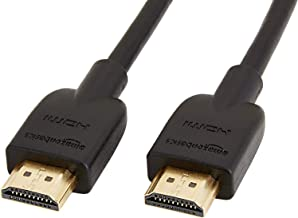 Amazon Basics CL3 Rated High-Speed 4K HDMI Cable - 6 Feet, Pack of 3
