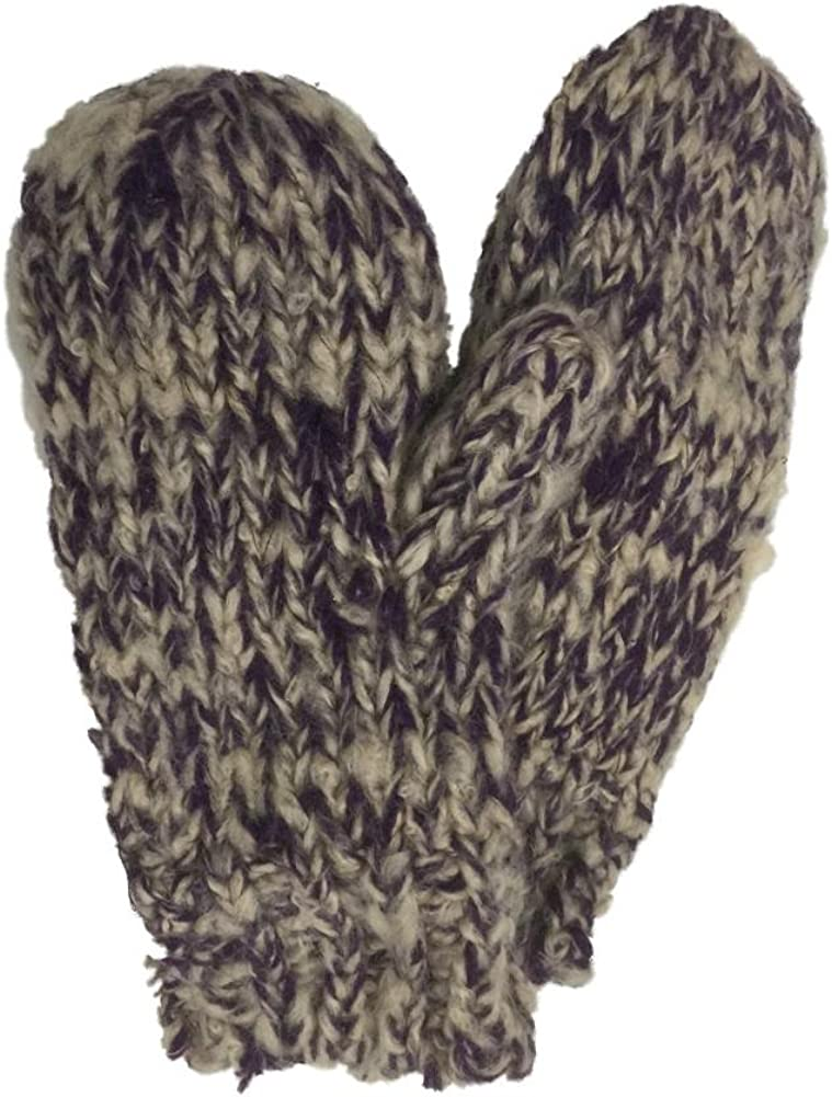 Sonoma Womens Soft Purple & Tank Knit Mittens with Fleece Lining
