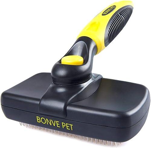 Bonve Pet Cepillo Perros Gatos, Peine para Perros Gatos y Mascotas Remover y Quitar Pelo con Púas de Acero Inoxidable...
