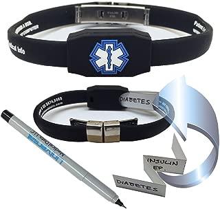 The Messenger Medical Alert Bracelet - Black