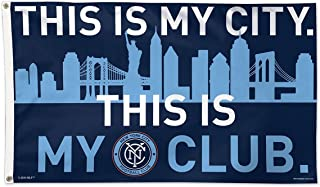 WinCraft Soccer New York City FC 01755215 Deluxe Flag, 3' x 5'