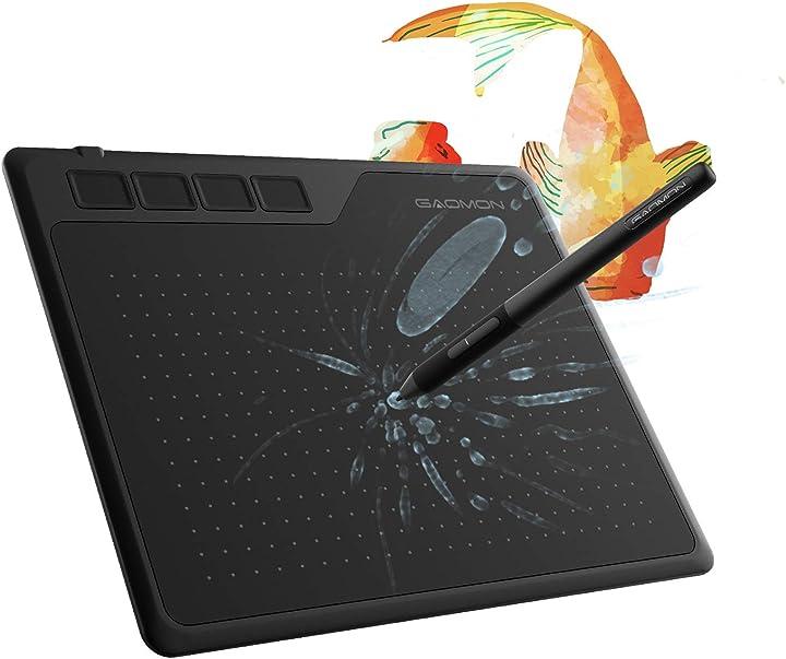 Gaomon s620 6,5 x 4 pollici tavoletta grafica con penna senza batteria per disegnare 2021-01FU-4-13066
