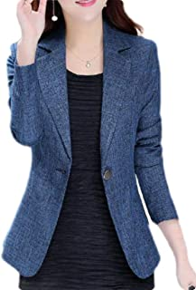FSSE Womens Casual One Button Slim Fit Business Work Blazer Jacket Suit Coat