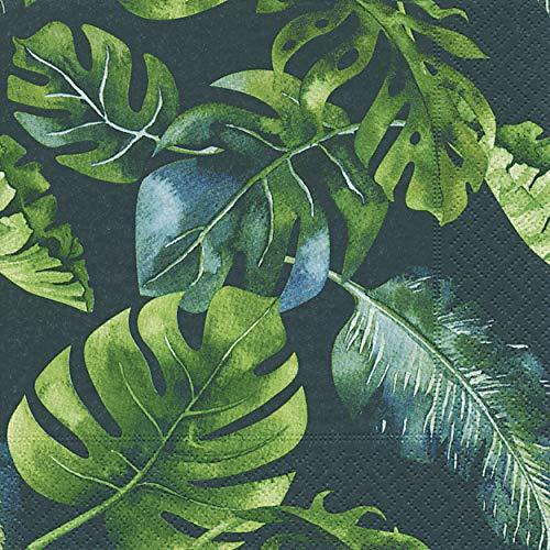 20 servetten Monstera planten jungle bladeren