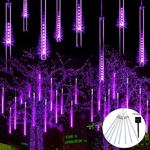 JMEXSUSS Christmas Lights Meteor Shower Rain Lights Solar Powered Meteor Shower Lights 30cm product image