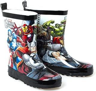 Rain Boots for Kids Super Hero Avengers Black