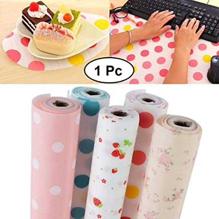 JN-STORE's Anti Slip PVC Waterproof Place Mat for Kitchen Cupboard Liners, Refrigerator, Table (Multicolour, 45X300cm)
