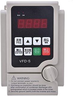 Variador de frecuencia, Inversor de frecuencia VFD de 220 V Convertidor de frecuencia de salida trifásica de entrada monofásica, Inversor VFD Convertidor de variador de frecuencia CNC(0.4KW)