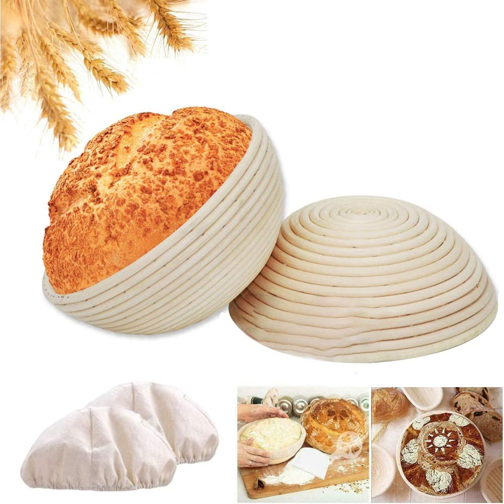 10 Inch and 9 Banneton Bread 2 Proofing Basket Lin Max 45% OFF Set 35% OFF with