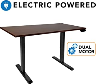 Mount-It! Electric Standing Desk Frame – Motorized Sit Stand Desk Base with Programmable, Memory and Timer Function LED Touch Control – Dual Motor Height Adjustable Workstation – Steel Legs, Black