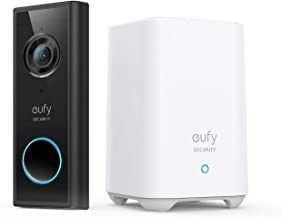 eufy Security, Video Doorbell (Battery-Powered) Kit, 2K Resolution, 180-Day Battery Life, Encrypted Local Storage, No Mont...