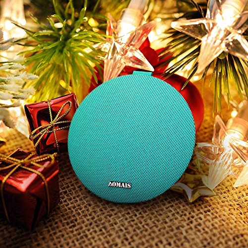 AOMAIS Ball Bluetooth Speakers,Wireless Portable Bluetooth 4.2,15W Superior Sound with DSP,Stereo Pairing for Surround Sound,Waterproof Rating IPX7,For Sports,Travel,Shower,Beach,Party(Turquoise)