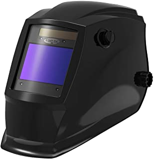 TOPDC Solar Power Auto Darkening Welding Helmet with Optical Class 1/1/1/2, Viewing Area..