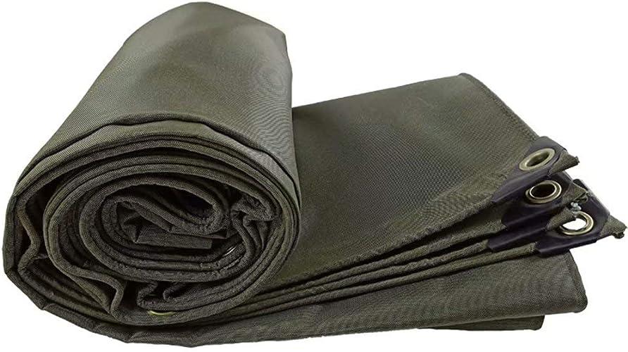 GG-Household goods-tarpaulin Bache épaisse de Toile de bache de Prougeection Solaire de bache de Prougeection de bache de Camion bache imperméable de Toile de bache extérieure Vert foncé