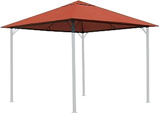 QUICK STAR Techo de repuesto para Gazebo de jardín 3x3m Naranja-rojo