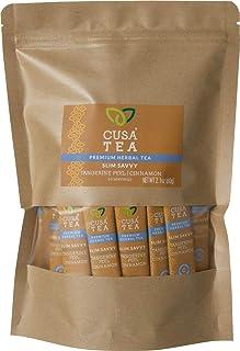 Cusa Tea: Slim Savvy Herbal Tea - Caffeine Free - Tangerine Peel & Cinnamon for Detox, Metabolism Support - No Sugar, Arti...