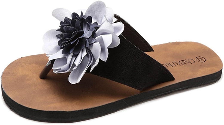 GIY Women's Flower Thong Flip-Flops Slide Anti-Slip Summer Outdoor Beach Sandal