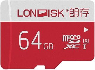 LONDISK 4K 64 GB Tarjeta Micro SD U3 Class10 Tarjeta Micro SDXC Tarjeta Memoria para la versión GoPro Hero con adaptador Micro SD 10 años de garantía (U3 64G)