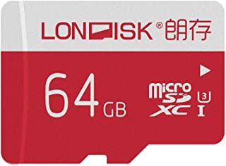 LONDISK 4K 64GB Micro SD Card U3 Class10 Micro SDXC Card Memory Cards for GoPro Hero Version with Micro SD Adapter (U3 64GB)