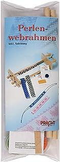 Pracht Creatives Hobby 3331 – Perla Webrahmen de Madera, desmontado en Plexi Embalaje, con Perlas e Instrucciones