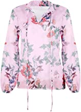 NANTE Top Loose Women's Blouse Flare Sleeve Floral Printed Chiffon Tops T Shirt Casual Shirts Ladies Pullover Clothing Womens Clothes