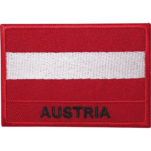 ELLU Bordado Sew de Hierro en Parche de Bandera de Austria Austrian Chaqueta Bolsa Bordado Badge