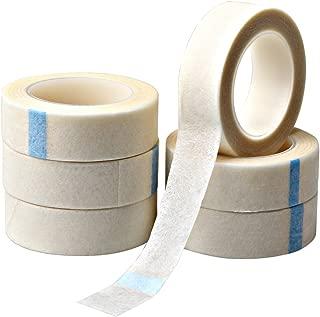 Fashion Road 6 Rolls White Eyelash Tapes, Fabric Eyelash Tapes Eye Makeup Pads Tape for Eyelash Extensions Supply