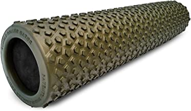 Rumble Roller Gator Foam Muscle Roller Optimized For Cross Frictional Massage To Reduces Sore Muscles & Relieve Back Muscle Pain 22 Inch, Green