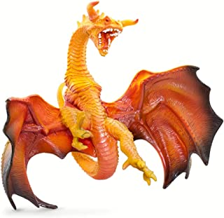 Safari Ltd. Prehistoric World Realistic Hand Painted Phthalate, Lead and BPA Free Figurine - for Ages 3 and Up - Lava Dragon