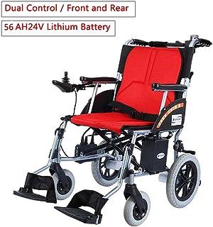 HEUFHU888 Silla de Ruedas eléctrica Plegado médico Anciano Walker 10AH24V Batería de Litio Control Inteligente 18
