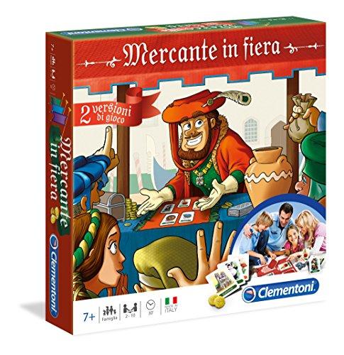 Clementoni- Mercante in Fiera Giochi da Tavolo, Multicolore, 16068