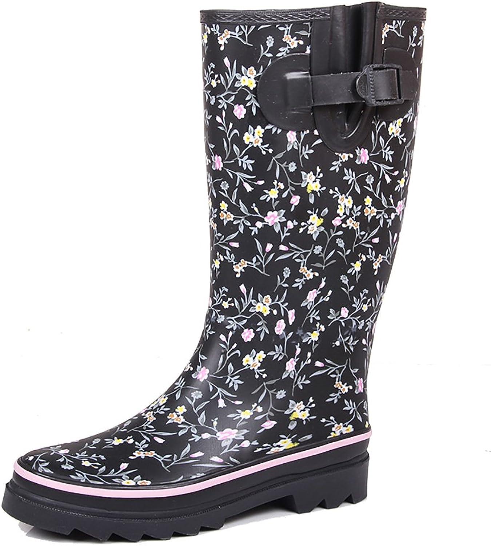 Women's Rain Boots, Women's Flat Boots Rain Boots, Antiskid High Boots, Fashion Water shoes