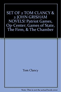 SET OF 2 TOM CLANCY & 2 JOHN GRISHAM NOVELS! Patriot Games, Op-Center; Games of State, The Firm, & The Chamber